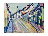 Murnau - Lower Market Street; Murnau - Untermarkt, 1908 Giclée-tryk af Wassily Kandinsky