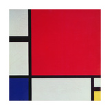 Composition with Red, Blue and Yellow, 1930 Giclée-trykk av Piet Mondrian