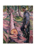 The Woodcutter Gicléetryck av Edvard Munch