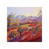 Ocotillo Triptych (center) Giclee Print by Erin Hanson