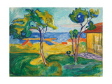 The Garden in Asgardstrand, 1904-1905 Giclee-vedos tekijänä Edvard Munch