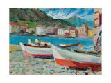 Rapallo, barche, 1905 Stampa giclée di Wassily Kandinsky