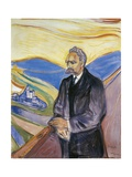 Portrait of German Philosopher Friedrich Nietzsche (Rocken, 1844-Weimar, 1900), 1906 Gicléetryck av Edvard Munch