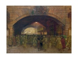 Victoria Station, Troops Leaving for the Front Giclee Print by Walter Bayes