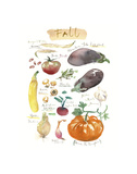 Fall Vegetables Prints by Lucile Prache