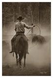Cowboy Named Bronco Poster par Barry Hart