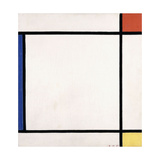 Composition III with Red, Yellow and Blue, 1927 Giclee-trykk av Piet Mondrian
