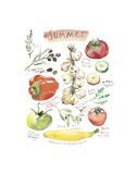 Summer Vegetables Prints by Lucile Prache