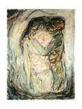 The Kiss, C.1910 Gicléetryck av Edvard Munch
