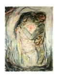 The Kiss, C.1910 Gicléetryck av Edvard Munch