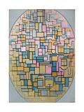 Tableau III: Composition in Oval, 1914 Giclee-trykk av Piet Mondrian
