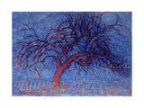 Avond (Evening): the Red Tree, 1908-10 Gicléetryck av Piet Mondrian
