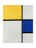 Composition No.1, with Yellow and Blue, 1929 Giclée-trykk av Piet Mondrian