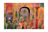 With the Eagle, 1918 Giclée-tryk af Paul Klee