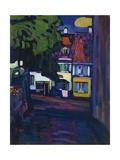 Murnau, case nell'Obermarkt, 1908 Stampa giclée di Wassily Kandinsky