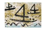 Three Fours Sailing, 1940 Giclee-trykk av Paul Klee