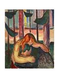 Vampire in the Forest, 1916-18 Giclee-vedos tekijänä Edvard Munch