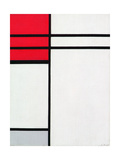 Composition (A) in Red and White, 1936 Giclée-trykk av Piet Mondrian