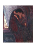 The Kiss, 1897 Gicléetryck av Edvard Munch