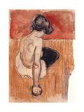 Sitting Model Giclee-trykk av Edvard Munch