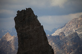 Lonely Climber, Cinque Torri, Dolomites, Italy Photographic Print by Frank Peters