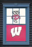 University of Wisconsin Bucky Badger Dual WOWindow Poster Window Decal