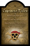 Captain's Rules Wood Sign