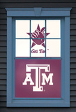 Texas A&M University Reveille Dual WOWindow Poster Window Decal