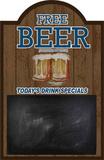 Free Beer Wood Sign
