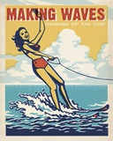 Making Waves Tin Sign