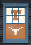 University of Texas Bevo Dual WOWindow Poster Window Decal