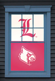 University of Louisville Cardinal Bird Dual WOWindow Poster Window Decal