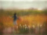 A Girl and Bear Grass Photographic Print by Shenshen Dou