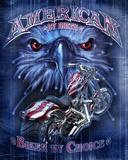 American Biker Tin Sign