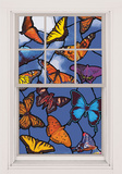Butterflies WOWindow Poster Window Decal