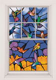 Hummingbirds WOWindow Poster Window Decal