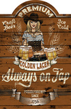 Always on Tap Wood Sign