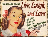 Live Laugh Love Tin Sign