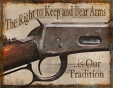 Keep and Bear Arms Tin Sign