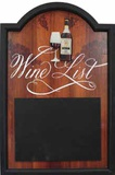 Wine List Wood Sign