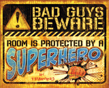 Superhero Tin Sign
