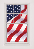 USA Flag WOWindow Poster Window Decal