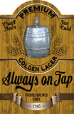Always on Tap II Wood Sign