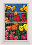 Spring Flowers WOWindow Poster Window Decal