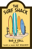 Surf Shack Wood Sign