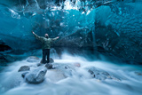 Self Portrait under a Glacier Photographic Print by Jonathan Tucker