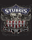 Sturgis Black Label Tin Sign