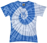Ladies: MLB-Royals Spiral V-Neck T-shirts