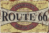 Route 66 Oil Tin Sign