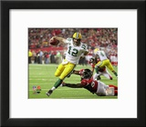 Aaron Rodgers 2010 Playoff Action Framed Photographic Print